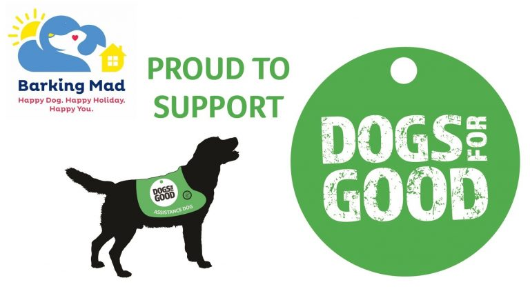 Barking Mad Proud Support Charity Dogs For Good Logo Sitting